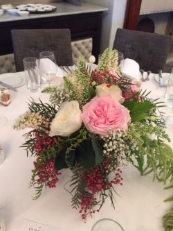 flowers - table setting 2